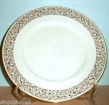 "Vera Wang Wedgwood Vera Filigree Gold Accent Luncheon Plate 9"" NEW"