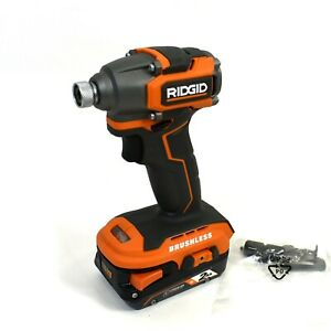 RIDGID 18V SubCompact Brushless 1/4 in. Impact Driver w/ 2.0 Ah Battery - R8723