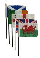 "Wholesale Lot of 5 UK United Kingdom Great Britain Set 4""x6"" Table Desk Flag"