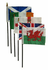 "Wholesale Lot of 5 UK United Kingdom Great Britain Set 4""x6"" Table Desk Flag"