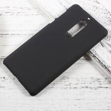 Nokia 5 Hard Case Rubberized Matt Gummiert Griffig Schutz Hülle Cover Schwarz