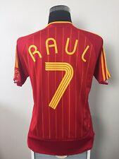 RAUL #7 Spain Home Football Shirt Jersey 2006-2008 (M)