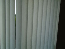 116 x 127cm Patterned White Vertical non blackout Blind w/ headrail & parts