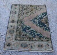 2x3 Oriental Vintage Wool Handmade Traditional Carpet Area Rug