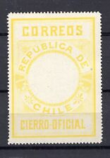 CHILE 1900 Seal MLH no official printing perforated yellow
