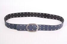 G3-59 Basic Gürtel Leder grau anthrazit 85 cm Nietengürtel Hosengürtel NEU
