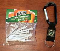 Rare Hahn Premium Light Beer Golf Tees Pack & Keychain with Bottle Opener