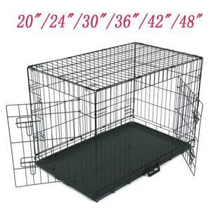 "20""/24""/30""/36""/42""/48"" Pet Cat Dog Folding Steel Crate Playpen Wire Metal Cage"