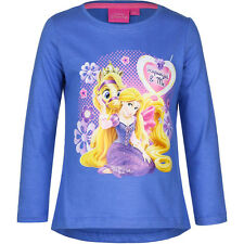NUEVO Camisa Niñas Princess Gris Rosa Azul Algodón 98 104 110 116 #58