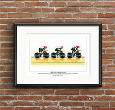 Team GB Donna Ciclismo Corsa TEAM 2012 LTD EDITION fine art print FORMATO A3