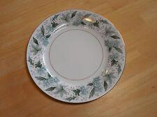 Noritake China Japan ARGYLE 5311 Set of 6 Dinner Plates 10 3/8 in Grey