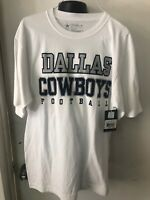 Dallas Cowboys Men's Medium Shirt White Cotton Nfl Football