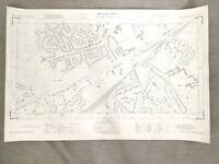 1960 Vintage Map of Surrey Women's Royal Army Corps WARC Camberley