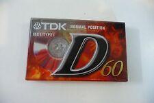 TDK D-60EB IEC I K7 AUDIO TAPE CASSETTE VIERGE NEUVE