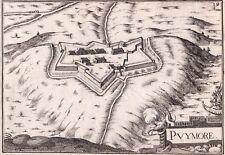 Carte XVIIe Citadelle Puymaure Gap Hautes Alpes Christophe Tassin 1634