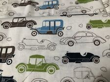 Davids Textiles Fabric Antique Cars On Linen 1 Yard 50� Wide