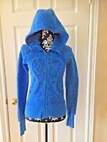 LULULEMON cornflower blue-paisley print-Scuba Hoodie Jacket size S
