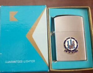 Vintage Konwal Cigarette Lighter W VAW-111 Dino Dinosaur Emblem Mint in box