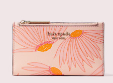 Kate Spade spencer falling flower small slim bifold wallet Card Case ~NWT~ Pink