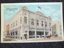 1920's The Chamber of Commerce & Masonic Temple in Paris, TX Texas PC