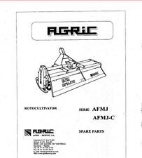 Parts Manual for Agric AFMJ Chain Drive Roto-Tiller