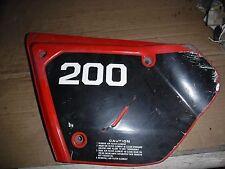 Honda 1979 - 1982 Honda XR200 XR 200 Left Side Airbox Plastic Cover Panel