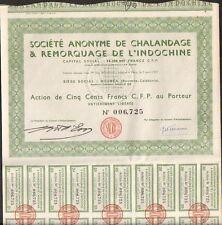 CHALANDAGE & REMORQUAGE DE L'INDOCHINE (INDOCHINE NOUVELLE-CALÉDONIE) (S)