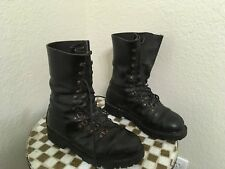 RAX 1991 AUSTRALIA BLACK LEATHER MILITARY MOTORCYCLE BOOTS 7.5-8 M-42