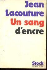 Jean Lacouture - Un sang d'encre - 1974 - Broché