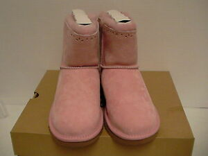 Women's ugg boots K dixi flora perf pink size 6 Youth new with box