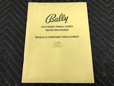 Bally Electronic Repair Procedure Service Pinball Machine Manual Free Ship 2