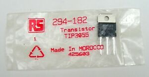 1  PowerTransistor NPN Type TIP3055  RS Comps Pt No. 294-182
