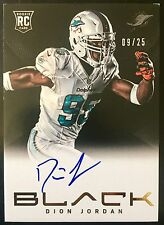 2013 Black #207 Dion Jordan Autograph Black and White Screen RC 9/25 Dolphins