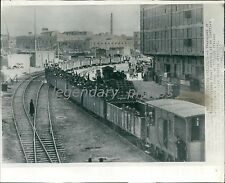 1941 World War II Trainload of Italian Prisoners Original Wirephoto