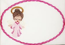 Angel Embroidered quilt label for quilt tops,blocks to customize with message