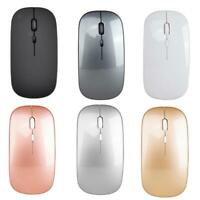 Wireless Silent Bluetooth Mouse For PC Rechargeable  USB Optical Mice