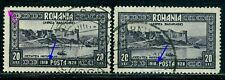 1928 Bessarabia,Basarabia,Fortress Hotin,Romania,Mi.335+335 I,CV$110,VFU Error