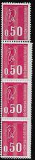France Scott #1293b, Booklet Pane Strip of 10 1971 FVF MNH
