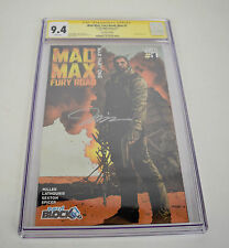 Mad Max Fury Road 1 Vertigo 9.4 CGC SS Signed Jim Lee Nerd Block Variant