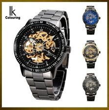 Ik Squelette Steampunk Montre Homme 42mmColouring Skeleton Watch Mechanical Auto