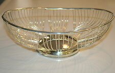 "FB Rogers silver wire basket, bowl 11 3/4"" x 7 1/2"""