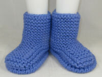 PRINTED INSTRUCTIONS - SUPER CHUNKY GARTER STITCH CALF BOOTS KNITTING PATTERN