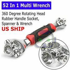 52 in 1 Universal Wrench Adjustable Tools Multi-Function Socket Tiger Spanners