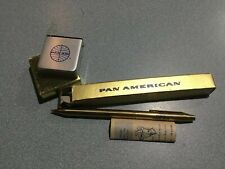 combo NIB VINTAGE PAN AM AIRLINES PAA Metal TAPE MEASURE & PEN