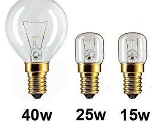 PHILIPS Oven Lamps Cooker Light Bulbs 40w 25w 15w 240v SES E14 300 Degree