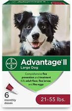 New! Advantage Ii Large Dog Profession Flea Treatment - 6 Pack, for 21-55 lbs