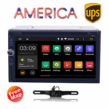 GPS Navi Android7.1 Quad Core Double 2Din Car Stereo DVD Player 4G WiFi BT+CAM