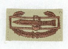 Cloth Army Badge: Combat Action - brown on desert sand