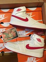 Nike Air Jordan Retro 1 High KO TIMELESS CANVAS Sail Varsity Red 638471-102 AJKO
