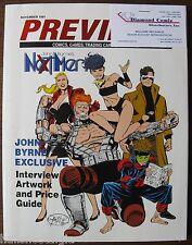 1991 Previews Catalog (Comics,Trading Cards,etc) has some inserts Motocross, etc